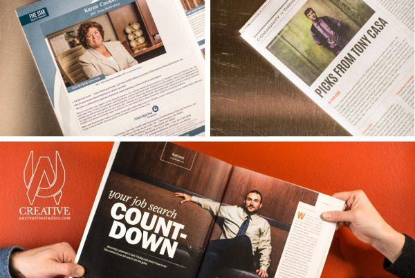 Photos in print publication