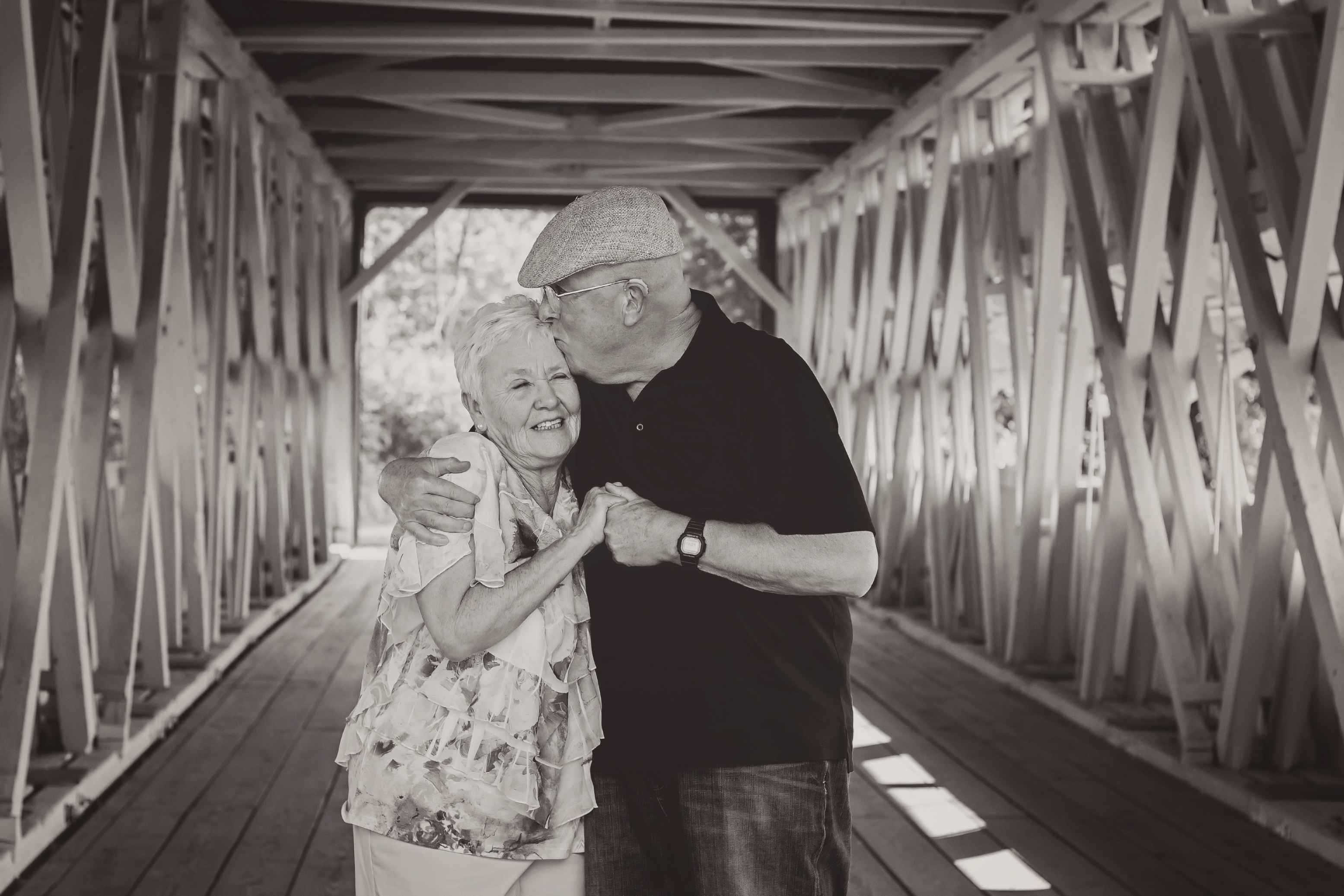 """Couples and the Covered Bridge"" by Shawna Stambaugh"