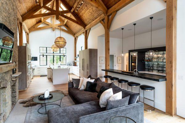 professional photo of living room designed by The Jones Studio