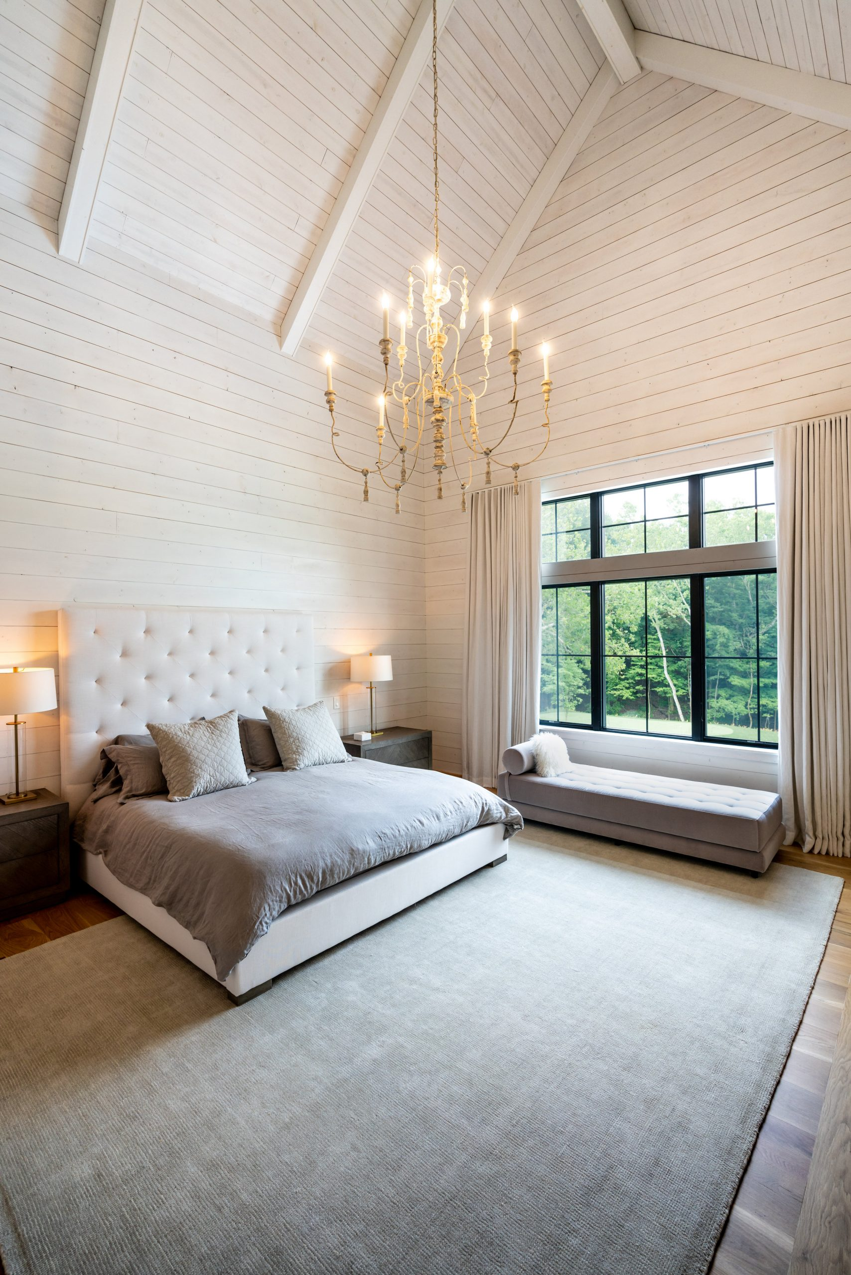 professional photo of a master bedroom