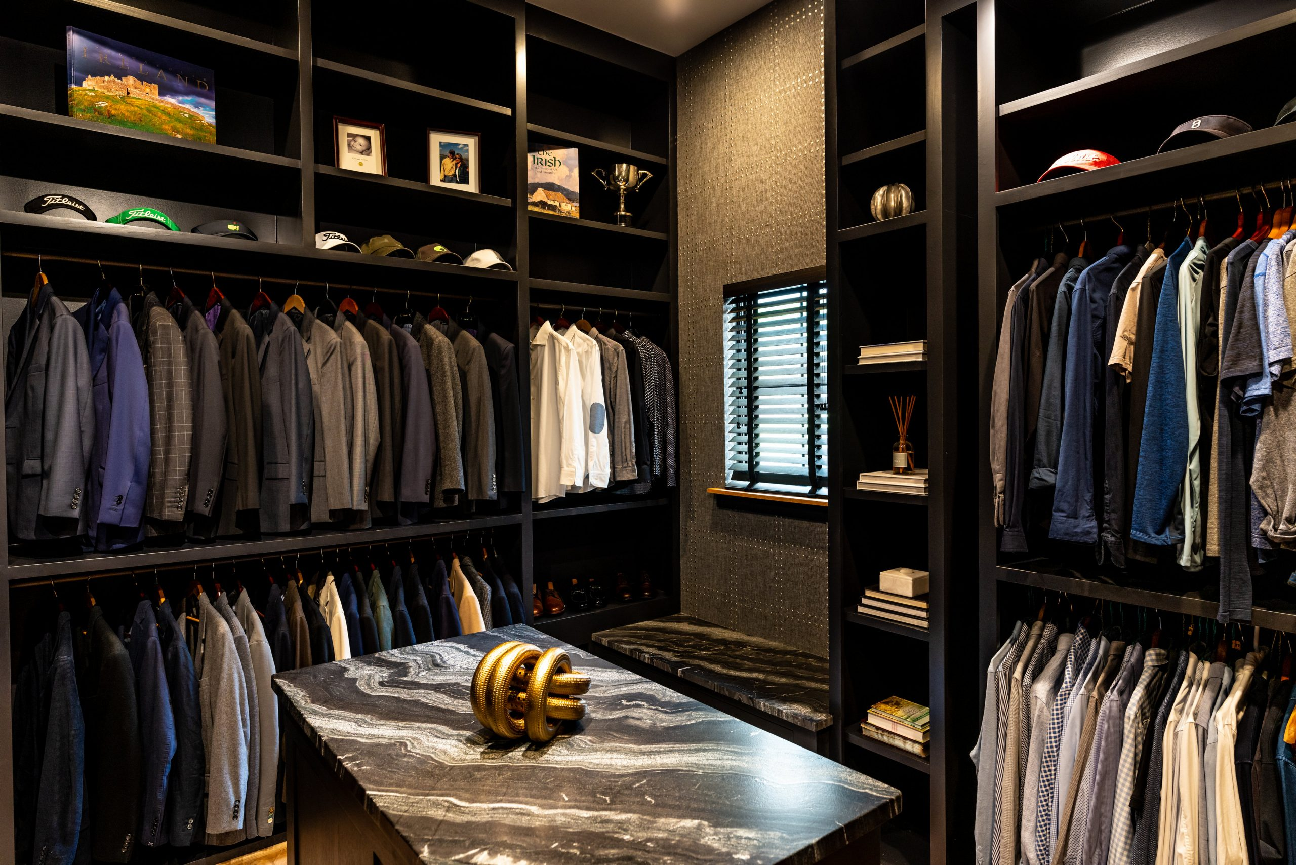 master closet real estate photography
