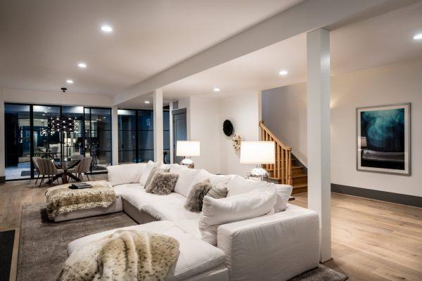 basement living area professional photo