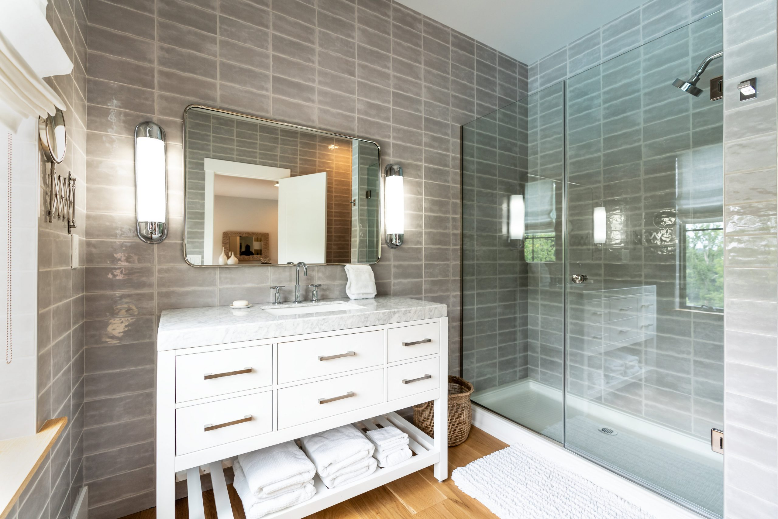 professional real estate photo of guest bathroom