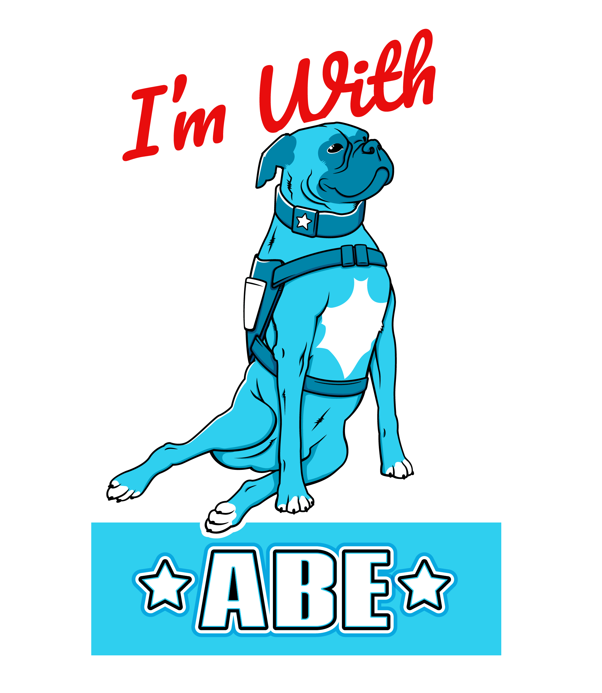 Veteran Companion Animal Services I'm With Abe campaign logo