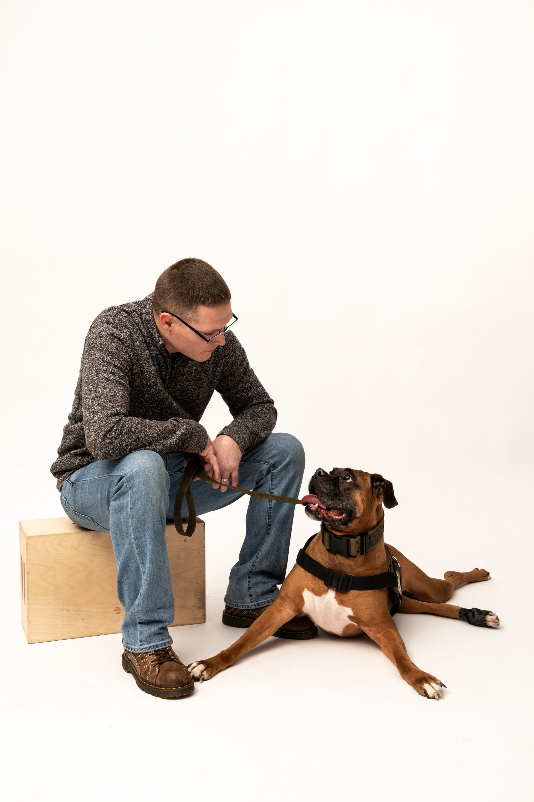 Veterans Companion Animal Services member and his service dog