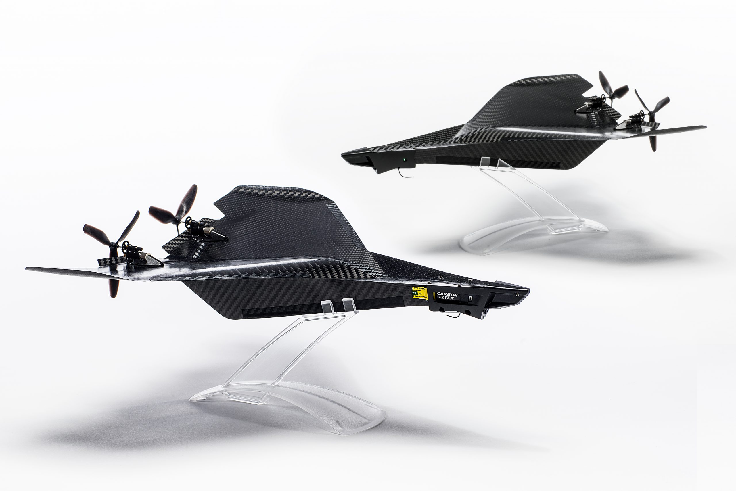 Two Carbon Flyer remote control planes by Trident Invents